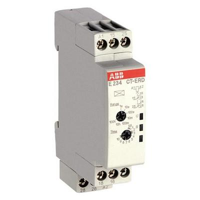 Реле времени ABB CT-ERD.22 модульное (задержка на включение) 24-48B DC, 24-240B AC (7 временных диапазонов 0,05с - 100ч) 2ПК