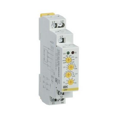 Реле контроля фаз ИЭК ORF 04. 3ф 220-460В AC