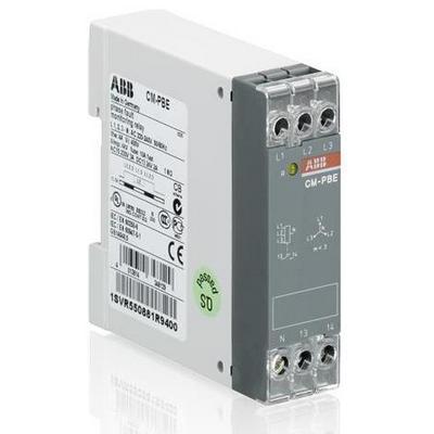 Реле контроля напряжения ABB CM-PBE контроль 1-3-фаз (контроль обрыва фазы L-N 220-240В AC ) 1НО контакт