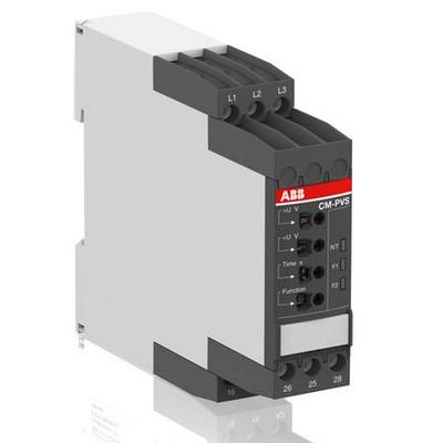 Реле контроля ABB CM-PVS.41S без контроль нуля, Umin/Umax=3x300-380В/420- 500BAC, обрыв, чередование, tрег =0-30с, 2ПК, винтовые клеммы