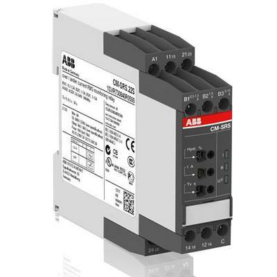 Однофазное реле контроля тока ABB CM-SRS.11S (Imax или Imin) (диапаз. изм. 3- 30мА, 10-100мA, 0.1-1A) питание 110-130В AC/DC, 1ПК, винтовые клеммы