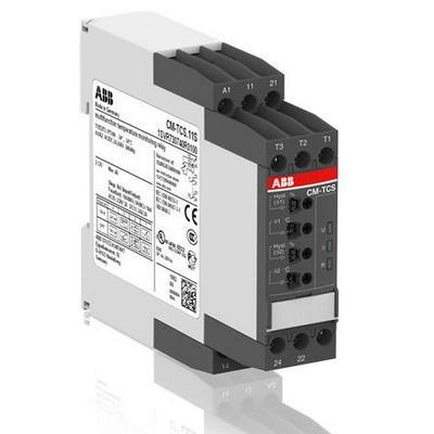 Реле контроля температуры ABB CM-TCS.21P, Uпит=24В AC/DC,-50...+50 С, пружинные клеммы