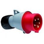 Вилка кабельная ABB 432-P6 32А 3P+N+E IP44 силовая переносная