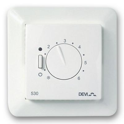 Терморегулятор DEVI DEVIreg D-530 (ELKO) с датчиком пола, 16А