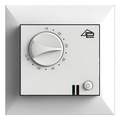 Терморегулятор механический теплого пола Priotherm PR-109 16A Белый с датчиком пола