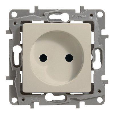 Розетка Legrand Etika электрическая без заземления 2К слоновая кость