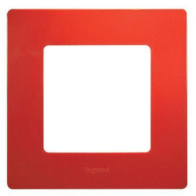 Рамка Legrand Etika 1-постовая, красный