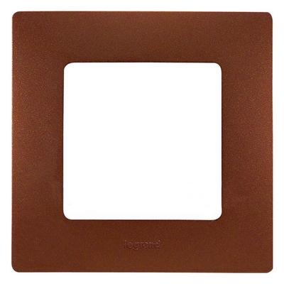 Рамка Legrand Etika 1-постовая, какао