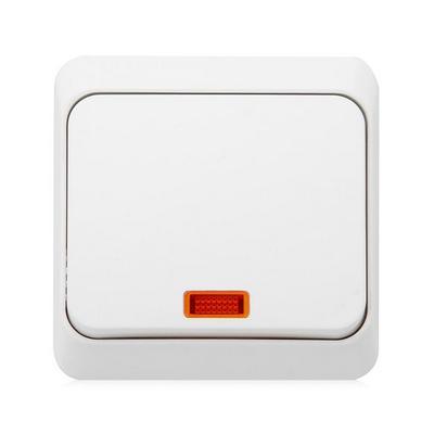 Выключатель Schneider Electric Этюд кнопочный с подсветкой накладной (белый)