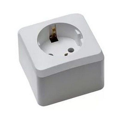 Розетка Schneider Electric Этюд 1-ая с заземляющим контактом накладная (белый)