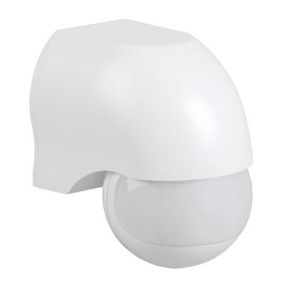 Датчик движения ИЭК ДД 010 белый, макс. нагрузка 1100Вт, угол обзора 180град., дальность 10м, IP44