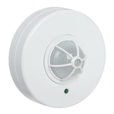 Датчик движения ИЭК ДД 024 белый, макс. нагрузка 1100Вт, угол обзора 120-360гра, дальность 6м, IP33