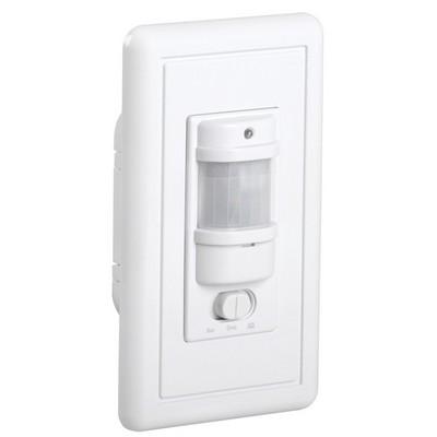Датчик движения ИЭК ДД 028 белый, макс. нагрузка 1200Вт, угол обзора 140град., дальность 9м, IP20