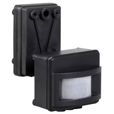 Датчик движения ИЭК ДД 017 черный, макс. нагрузка 1100Вт, угол обзора 120град., дальность 12м, IP44