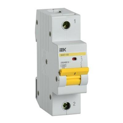 Автоматический выключатель ИЭК ВА47-150 1Р 63А 15кА характеристика С
