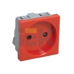 Розетка без з/к 2к (на 2 модуля) кабель-канала ПРАЙМЕР красная ИЭК (IEK) CKK-40D-RSK2-K04