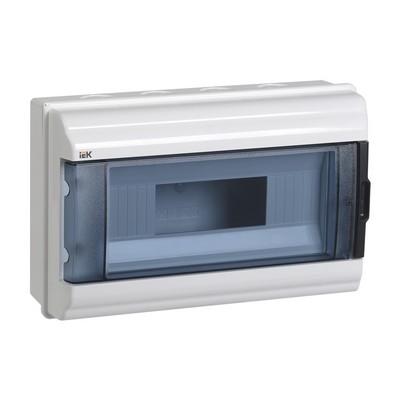 Бокс ИЭК КМПн, 12-модулей, IP55, пластиковый, навесной, прозрачная дверь