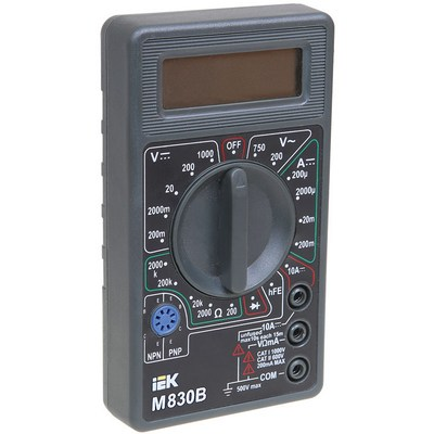 Мультиметр цифровой Universal M830B ИЭК