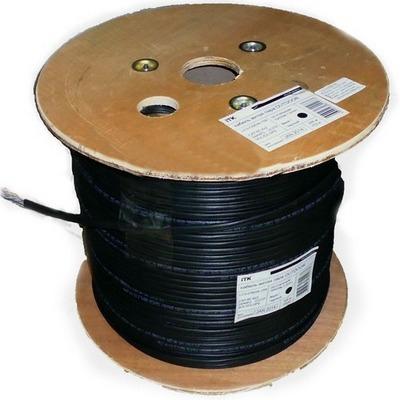 Кабель витая пара ITK ШПД F/UTP, внешней прокладки, категория-5E, 2х2х0,48мм solid, LDPE, 500м, черный