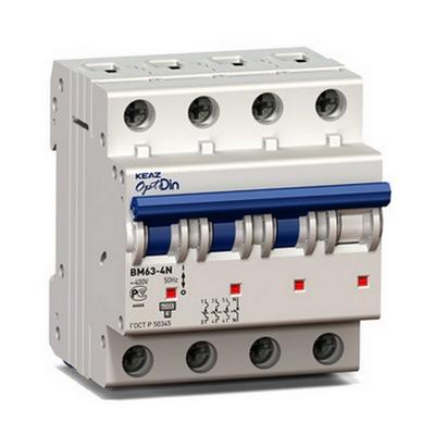 Автоматический выключатель КЭАЗ OptiDin BM63-4ND6-УХЛ3