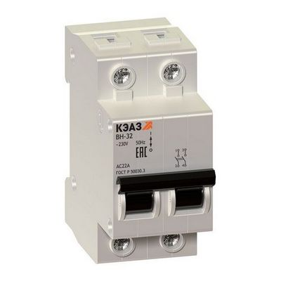 Модульные выключатели нагрузки КЭАЗ ВН-32-263-УХЛ3 2П 63А