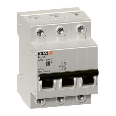 Модульные выключатели нагрузки КЭАЗ ВН-32-363-УХЛ3 3П 63А