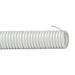 Труба гофрированная ПВХ d20 с зондом (100м/бухта) ИЭК серая