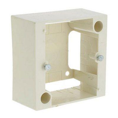 Коробка накладная 1 пост для встраиваемых розеток LEGRAND 20А и 32А 82x82 мм глубина 40 мм