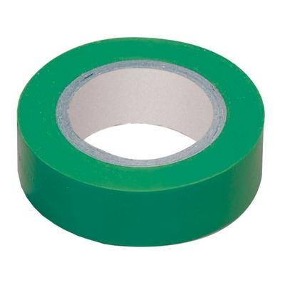 Изолента 0,13х15 мм зеленая 10 метров ИЭК UIZ-13-10-10M-K06