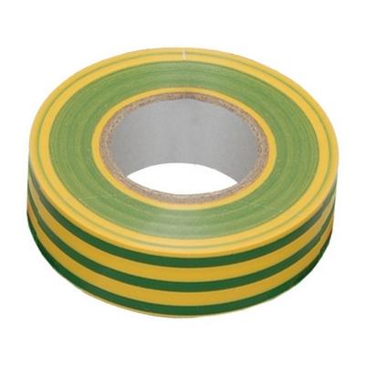 Изолента 0,13х15 мм желто-зеленая 10 метров ИЭК UIZ-13-10-10M-K52
