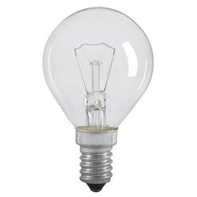 Лампа накаливания G45 60Вт E14 шар прозрачный ИЭК