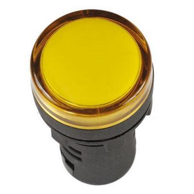 Лампа индикаторная ИЭК, AD16DS, светодиодная матрица, d16мм желтый 12В AC/DC