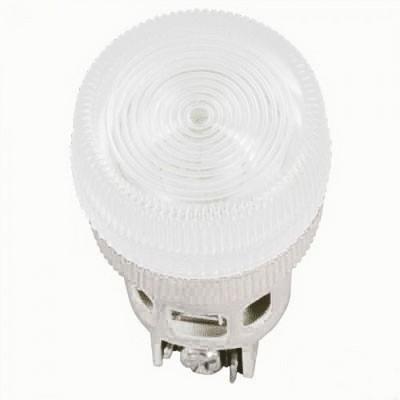 Лампа индикаторная ИЭК, ENR-22 сигнальная, d22мм, белый неон/230В цилиндр