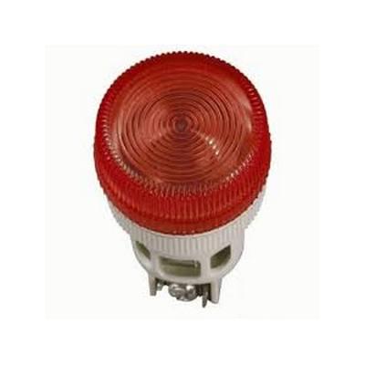 Лампа индикаторная ИЭК, ENR-22 сигнальная, d22мм, красный неон/230В цилиндр
