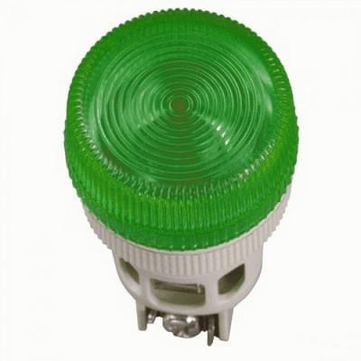 Лампа индикаторная ИЭК, ENR-22 сигнальная, d22мм, зеленый неон/230В цилиндр