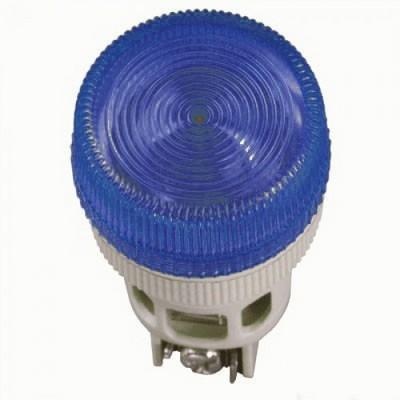 Лампа индикаторная ИЭК, ENR-22 сигнальная, d22мм, синий неон/230В цилиндр