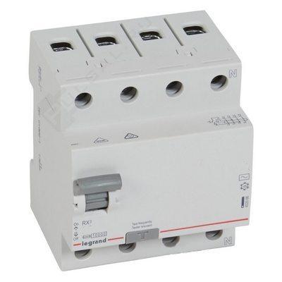 Выключатель дифференциального тока УЗО Legrand RX3 25А 30мА 4-полюса AC