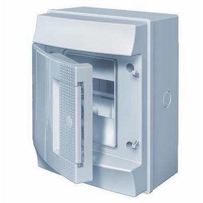 Бокс навесной ABB Mistral65, 4-модуля, пластиковый, IP65 влагозащищенный, непрозрачная дверь, без клемм