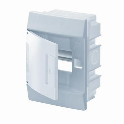Бокс встраиваемый ABB Mistral41, 4-модуля, пластиковый, непрозрачная дверь, без клемм