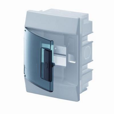 Бокс встраиваемый ABB Mistral41, 4-модуля, пластиковый, зеленая дверь, без клемм