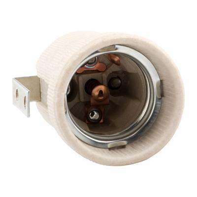 Патрон электрический Е27 керамический-с-держателем КЭАЗ