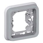 Суппорт с рамкой для скрытого монтажа механизмов Legrand Plexo серый 1-пост