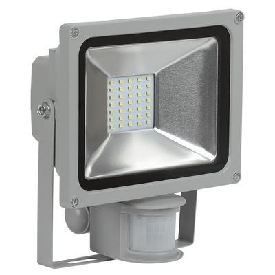 Прожектор светодиодный ИЭК (IEK) 10Вт СДО 05-10Д серый, с датчиком движения SMD IP44