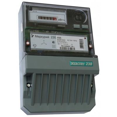 Счетчик электроэнергии Меркурий 230 АМ-00 5(7,5) трехфазный однотарифный