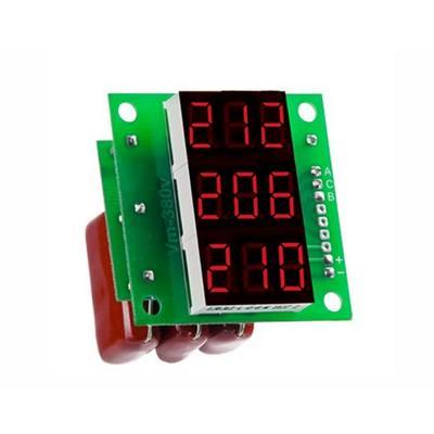 Вольтметр цифровой DigiTOP Вм-14 red, 3x230в, без корпуса, трехфазный, 100B-400B