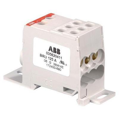 Блок распределительный (кросс-модуль) ABB BRU80A 80А 1-полюсный