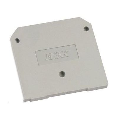 Заглушка для зажима клеммного ЗНИ4-6мм2, (JXB35-50А) серый ИЭК