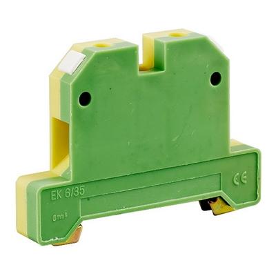 Зажим клеммный ЗНИ-4PEN 4мм2, наборный (JXB-земля) желто-зеленый ИЭК