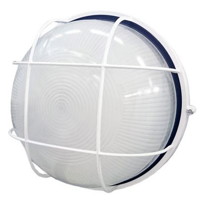 Светильник Navigator ЖКХ, 94 803 NBL-R2-60-E27, белый, круг с решеткой, 60Вт IP54