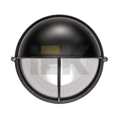 Светильник ИЭК ЖКХ НПП1105, черный, круг полусфера-луч, 100Вт IP54